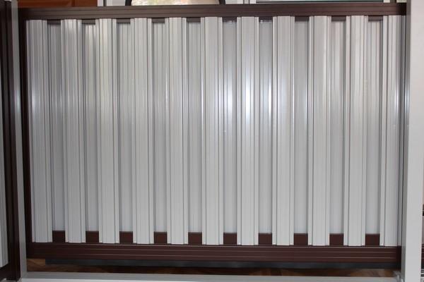 Въездные раздвижные алюминиевые ворота ALV