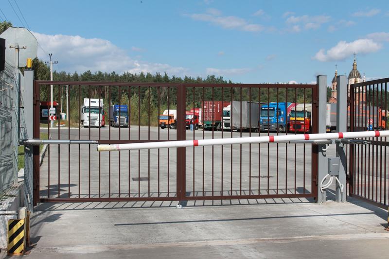 Ворота въездные распашные промышленные ALV