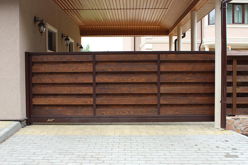 Деревянные ворота ALV