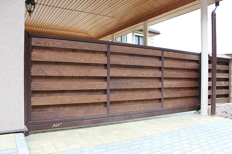 Раздвижные деревянные ворота ALV