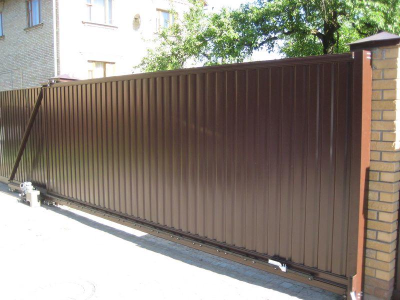 Въездные алюминиевые откатные ворота ALV