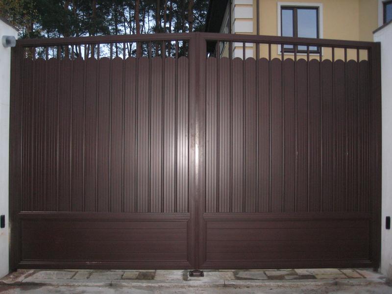 Ворота распашные нестандартные ALV