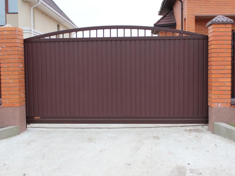 Алюминиевые арочные раздвижные ворота ALV