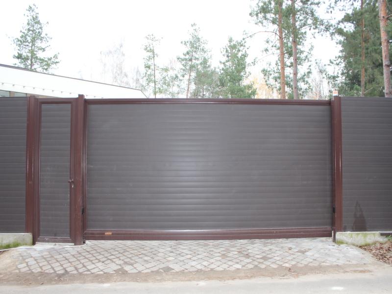 Алюминиевые ворота и калитка ALV