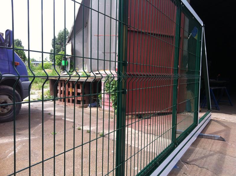 Ворота ALV, заполнение из панельных ограждений