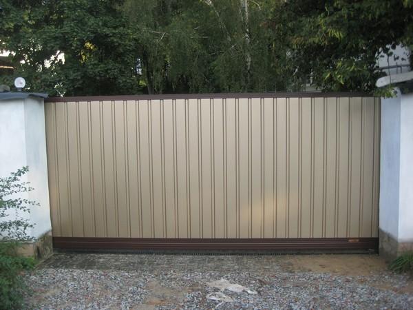 Въездные откатные алюминиевые ворота ALV