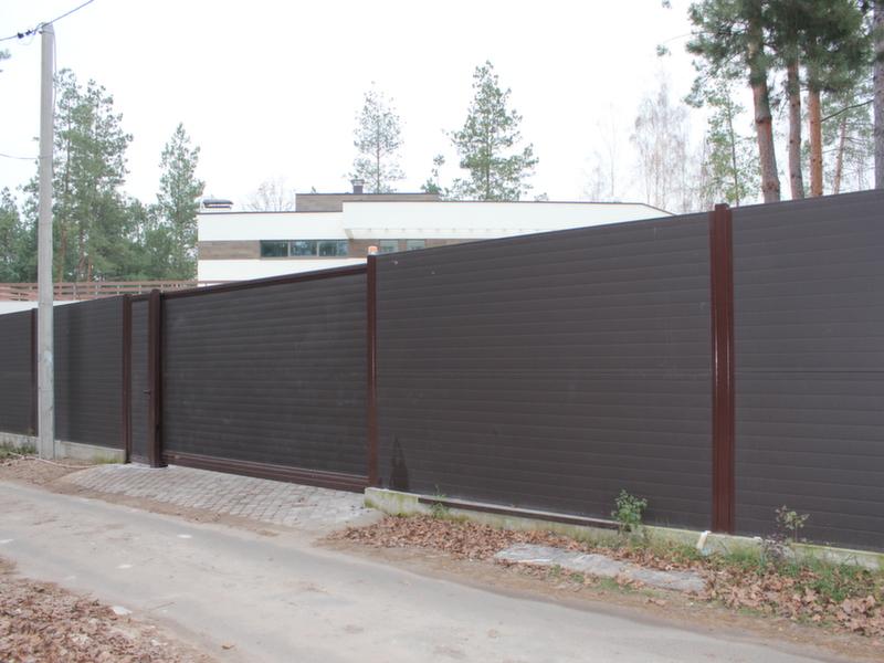 Алюминиевые откатные ворота, калитка и ограждение ALV